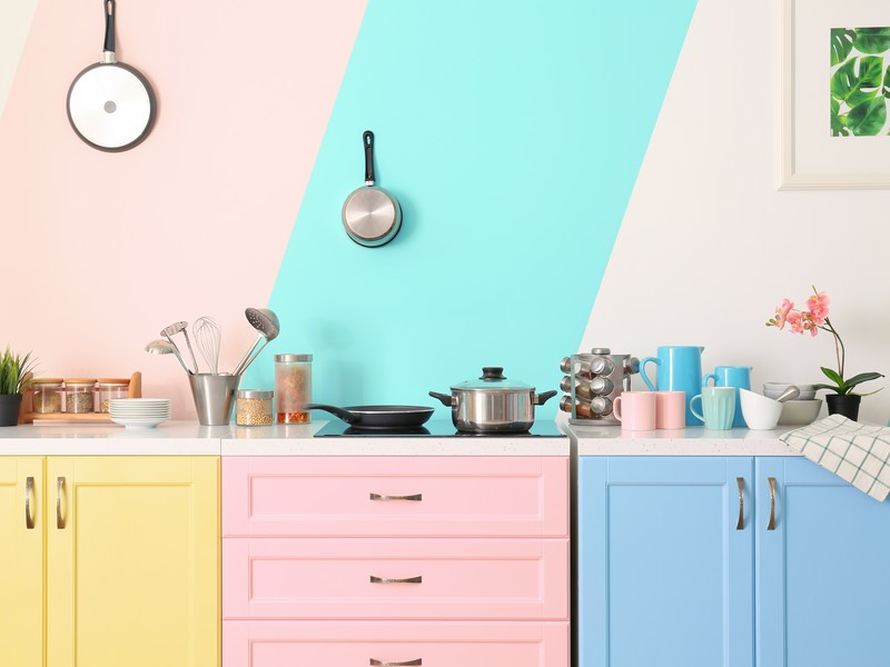Colorful kitchen room